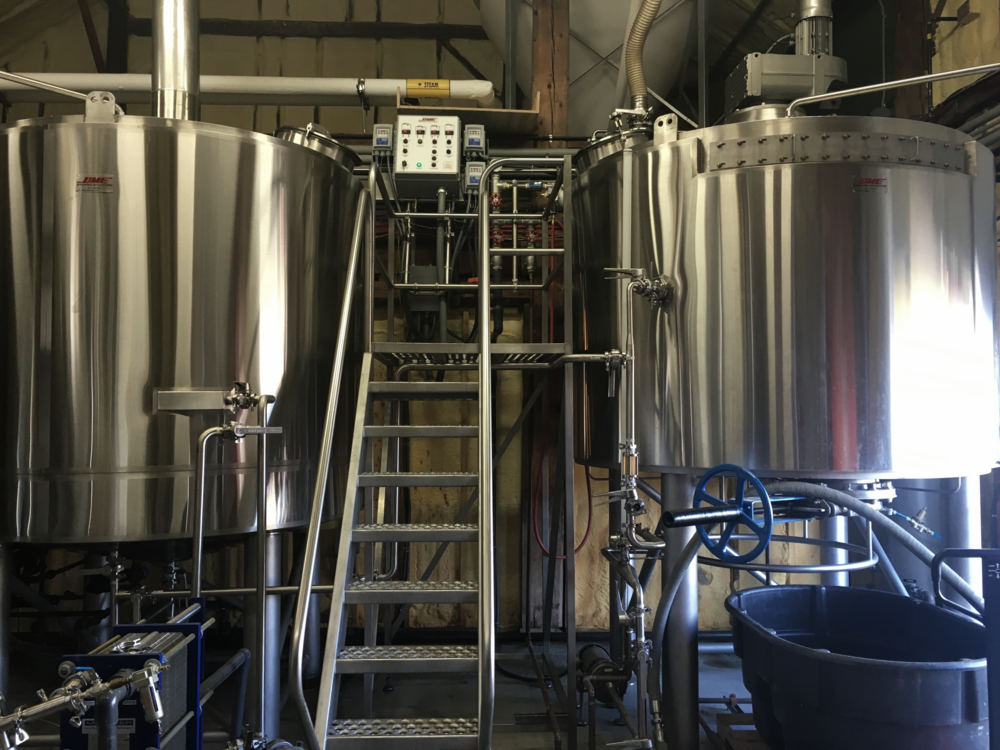 Sloop Brewing Company's 30bbl brewhouse