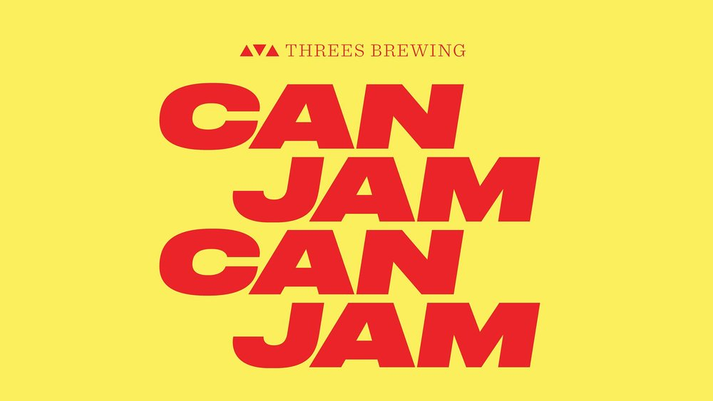 Flyer for Threes Brewing Can Jam