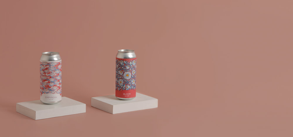Photo of Empyrean and Bloom cans