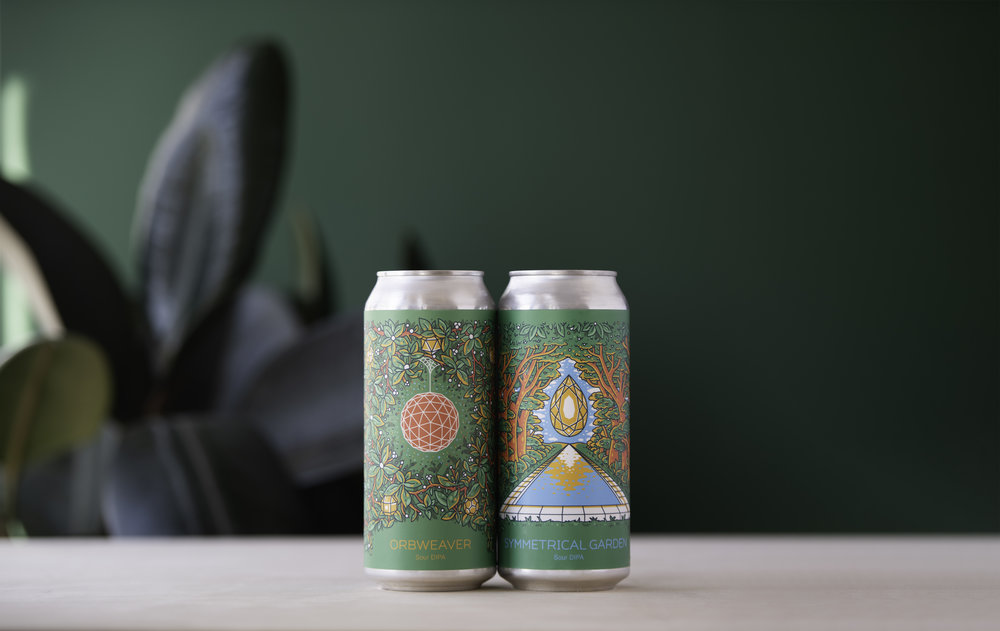 Photo of the Orbweaver and Symmetrical Garden Cans