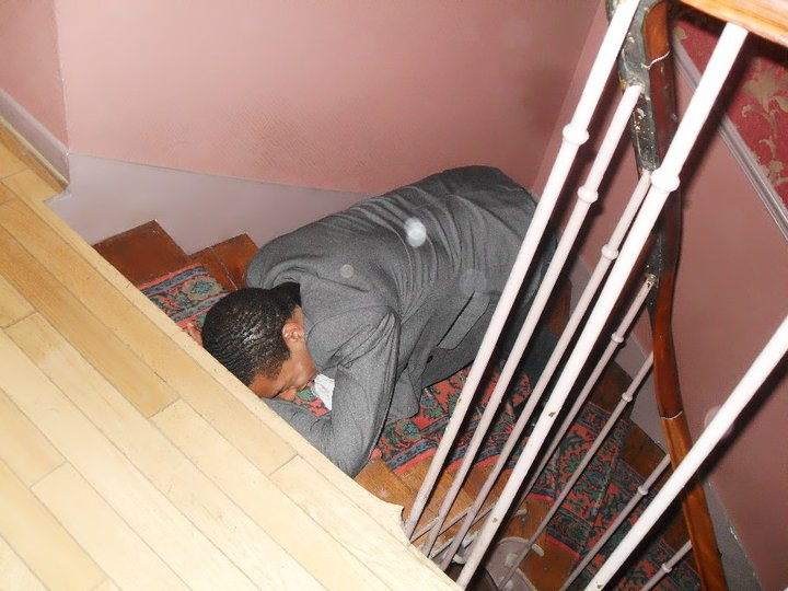 And sometimes randoms are collapsed in the stairway.