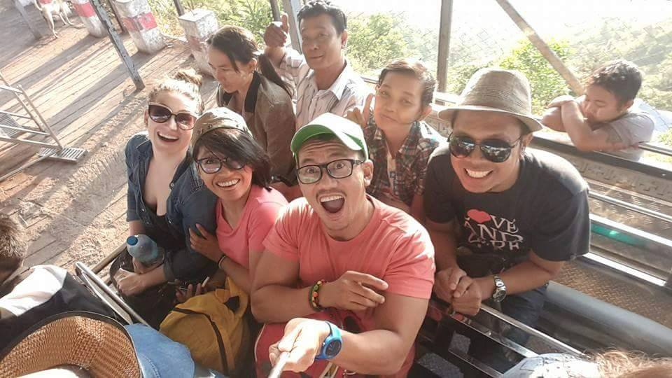 My new Indonesian friends! (Plus a Burmese man photobombing behind me)