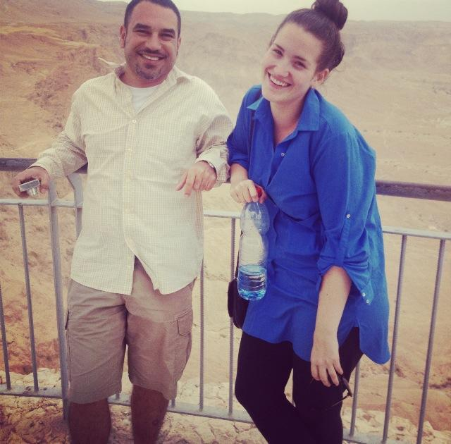 Excuse my shit posture - I had just schlepped up Masada