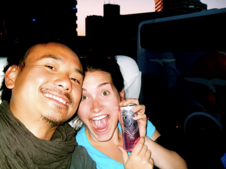 Tristan was also my champagne-in-a-can drinking buddy during the 30 hour bus ride from Windhoek to Livingstone!