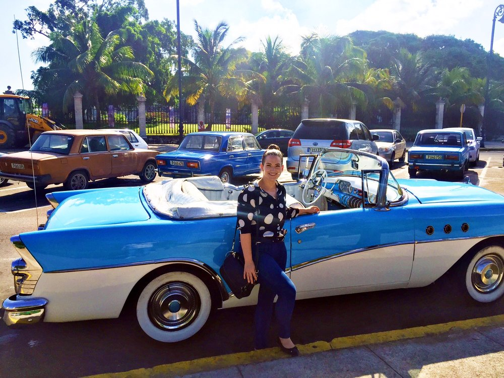 A lot of tourists overlook the fact that these flashy cars on only used as taxis for tourists...Cubans drive the cars in the back