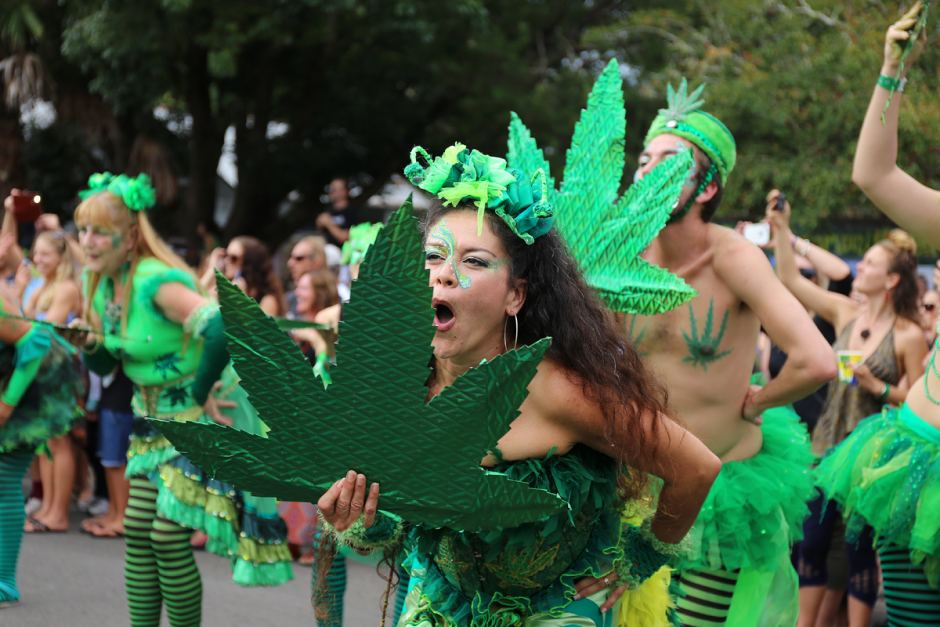 wasn't joking. Actual photo from actual 'weed mardi gras'