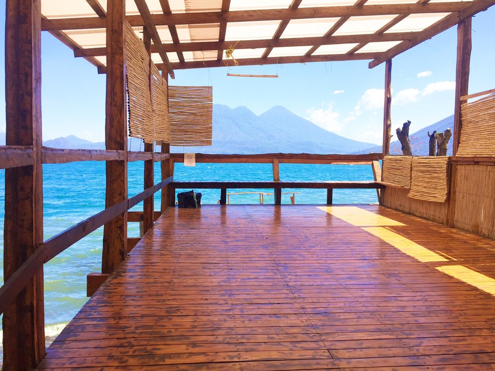 The yoga platform at the hostel. Dreams.