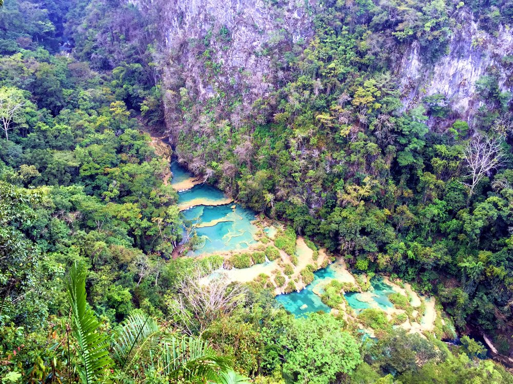 A 20 minute hike and you can view the pools from above...