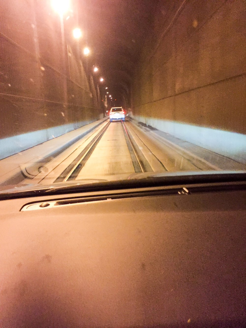This is the tunnel. I know, it was anticlimactic for me, too.