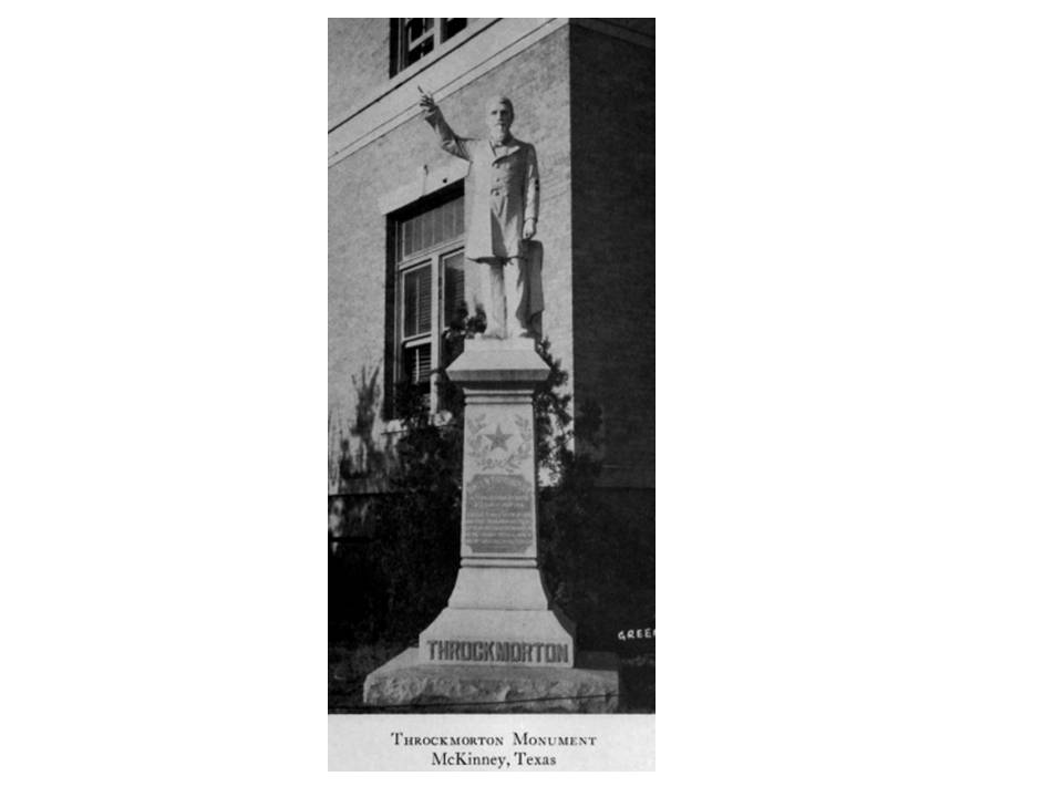 Rumor has it that back in the day, breaking the finger off of this statue was quite common.  Time after time, the city would replace the finger.  If you happen to have a Throckmorton finger, we'd love to display it at rye.