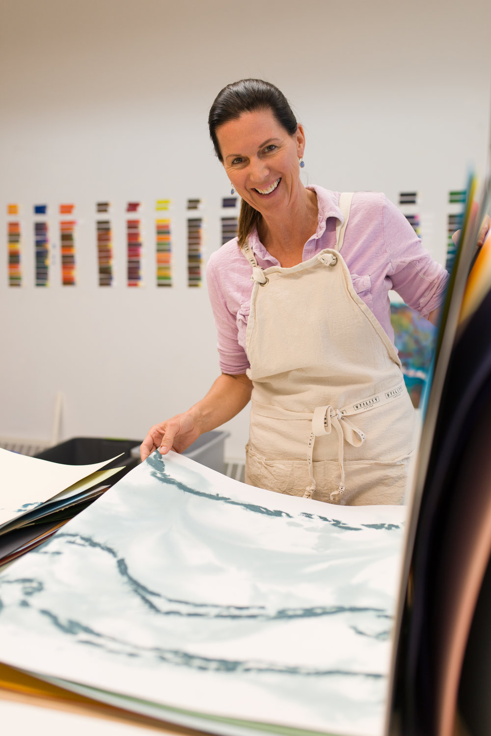Wendy Briggs Powell in her studio.