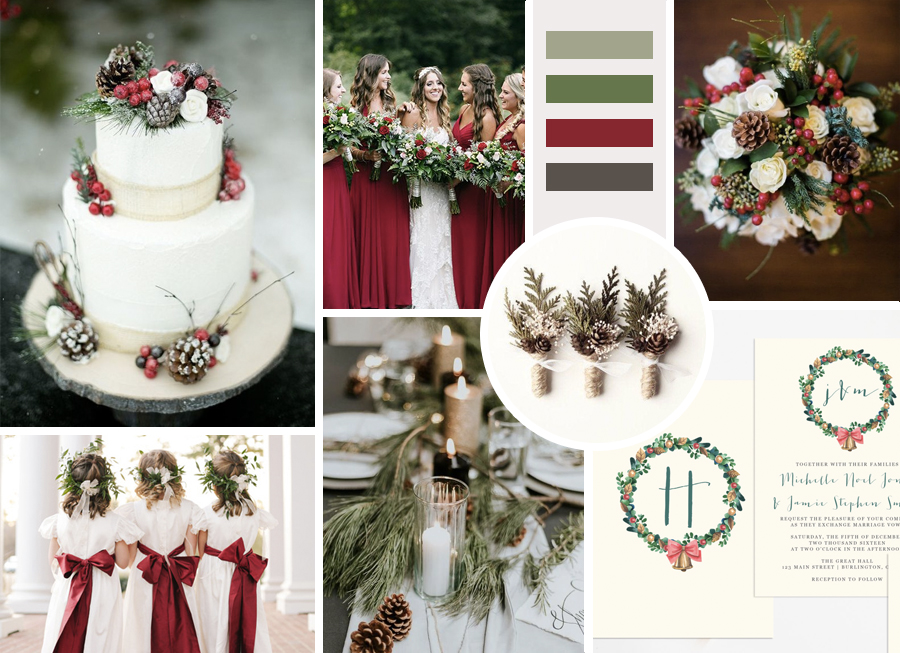 Christmas Wedding Inspo