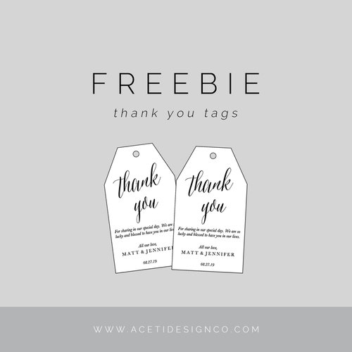 Template For Thank You Tags