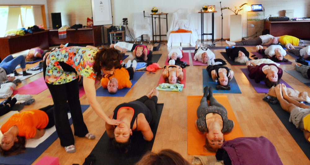 Correction of postures - Matsyasana, morning Yoga with Devi, Mohanji's Retreat at Andrevlje, Serbia, May 2016.jpg