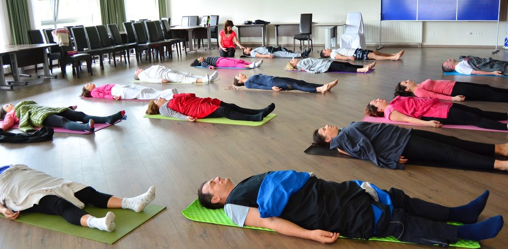 Energy Transfer during Yoga Nidra in the end, morning Yoga session with Devi, Mohanji's Retreat in Bosnia, June 2016.jpg
