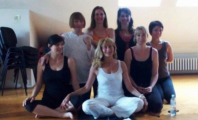 Freshly graduated Prenatal Yoga teachers, with Divna Miljkovic, Novi Sad, 2015.jpg