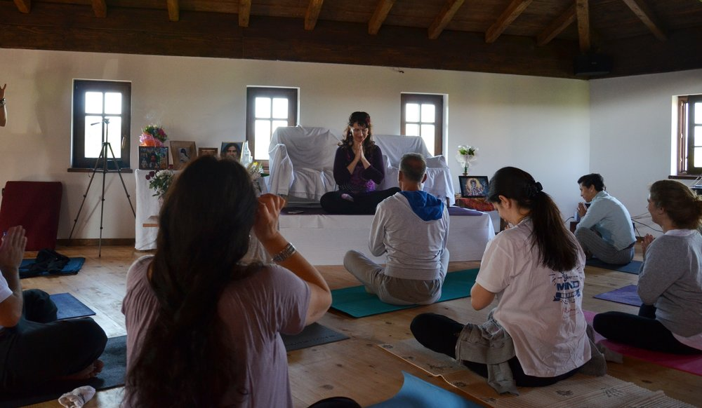 Hearthfelt namaste at the end of Yoga session with Devi, Mohanji's Retrat in Gradce, Macedonia, 2016.jpg