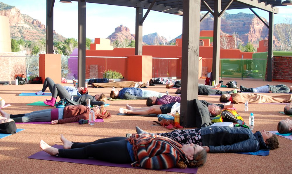 Outdoor 1, Yoga Nidra, group - Sedona mountains.jpg
