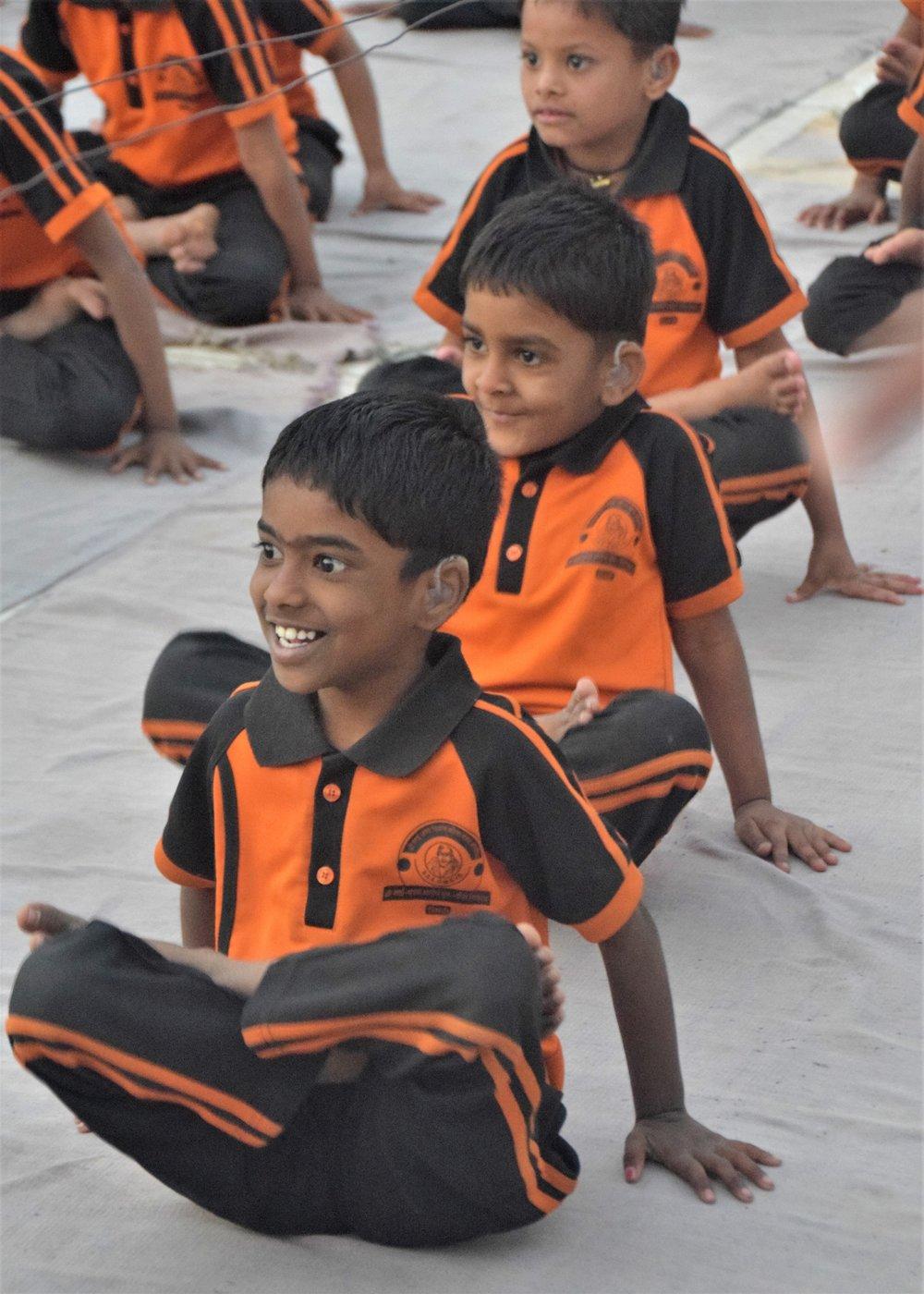 Children entering Padmasana.jpg