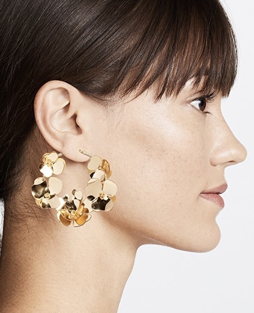 Flower Garden Hoops by Oscar de la Renta