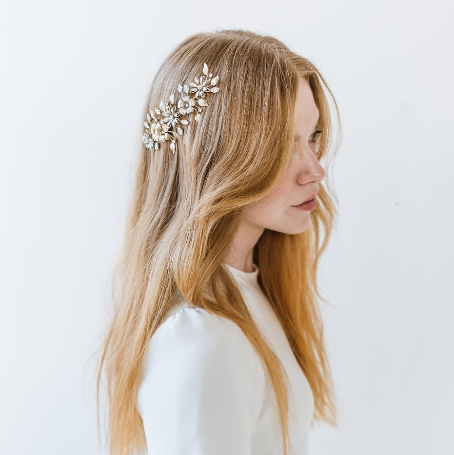 Gold Floral Comb by Melinda Rose