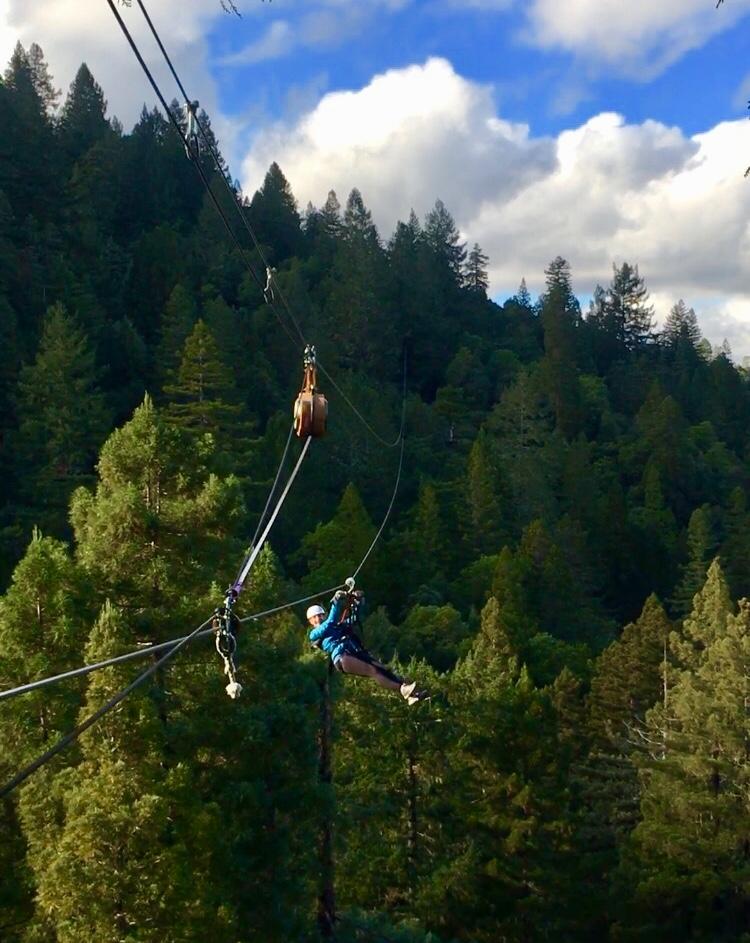 "The girlfriend (Kristen) on ""The Big Kahuna""—the longest zipline at 1,500 feet."