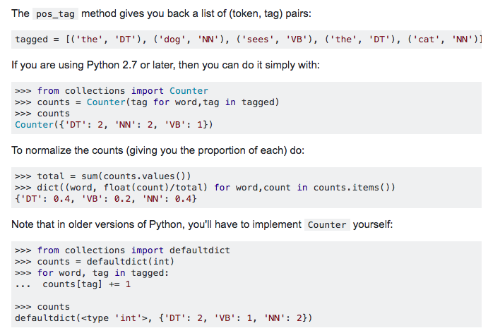 Source:https://stackoverflow.com/questions/10674832/count-verbs-nouns-and-other-parts-of-speech-with-pythons-nltk