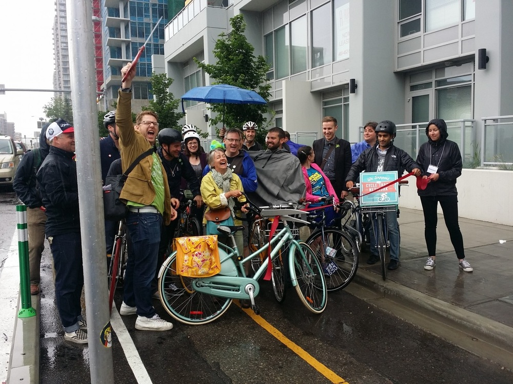 Celebrating the opening of Cycle Tracks!