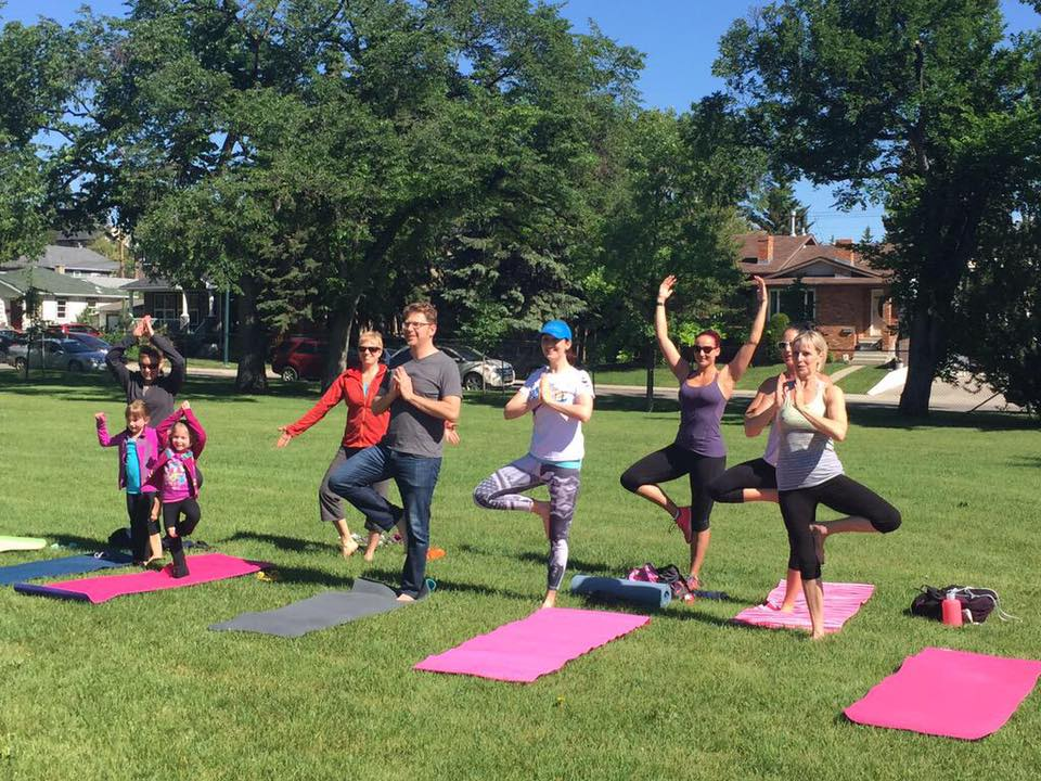 Yoga in the Park with Tuxedo!