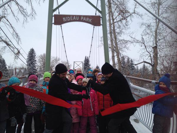 Opening the Rideau Park Pedestrian Bridge.jpg