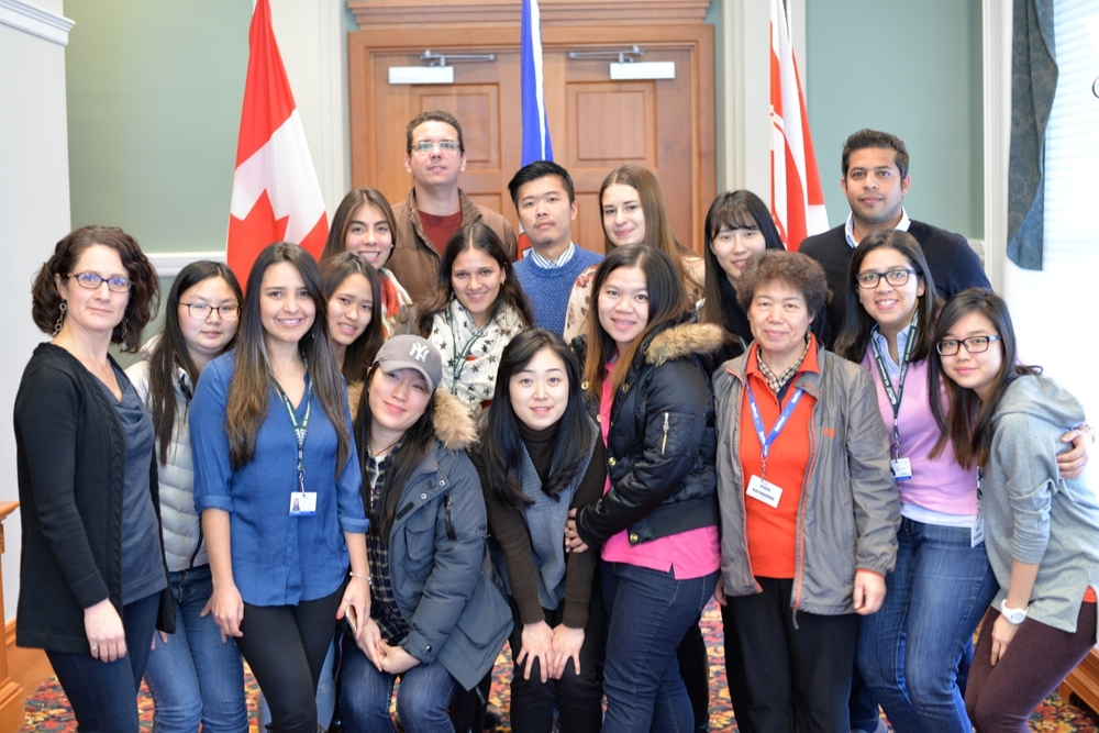 Meeting with Bow Valley College International Students