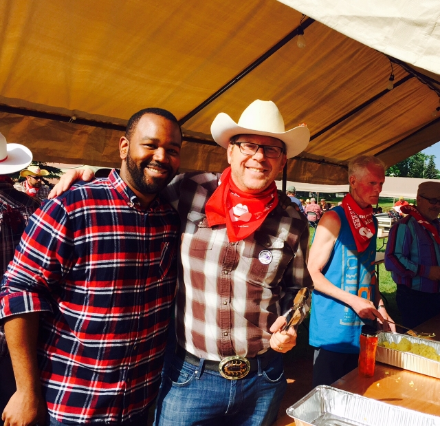 Flippin' pancakes at Renfrew's Stampede Breakfast