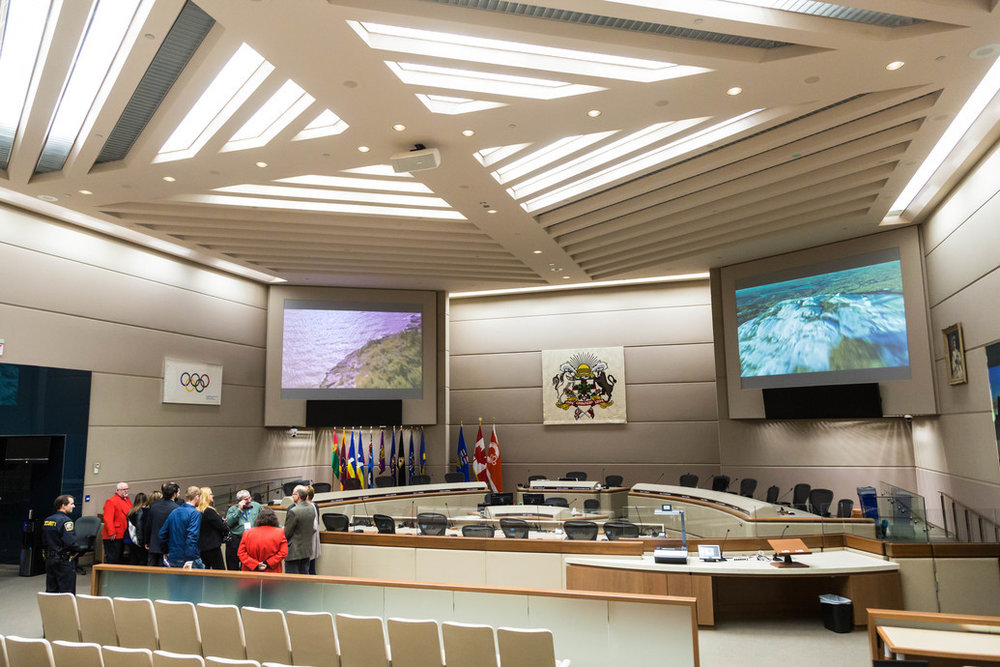 Council Chambers in the City of Calgary.