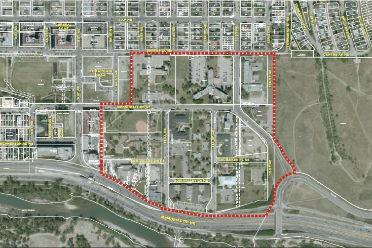Photo of the East Riverside Master Plan planning area (Source: East Riverside Master Plan document by B&A)