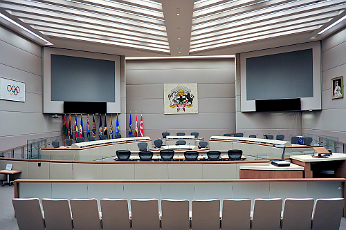Council Chambers at the City of Calgary