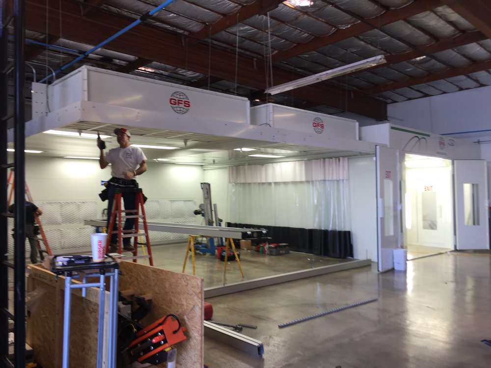 Installation of the new Prep Station's & Paint Booth at our new 61 Belvedere facility in 2015