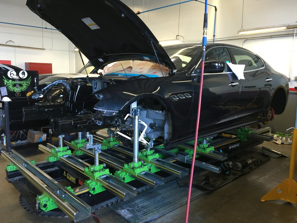 Globaljig frame bench upgrade in 2015 for Maserati Certification