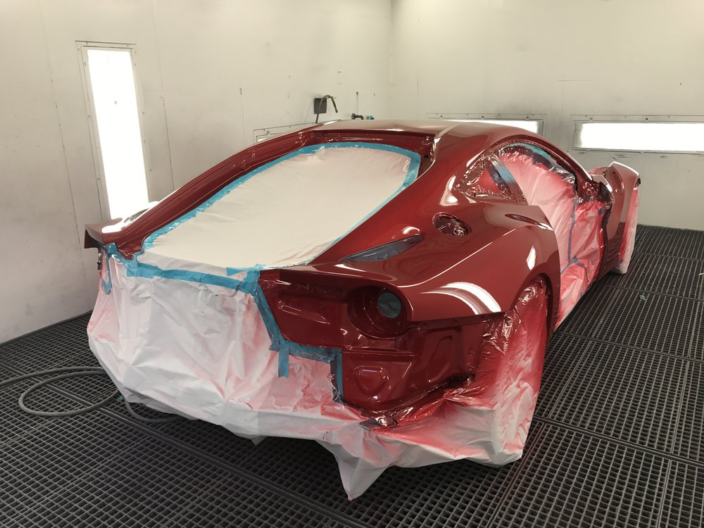 Ferrari F12 being painted @ Anthony's