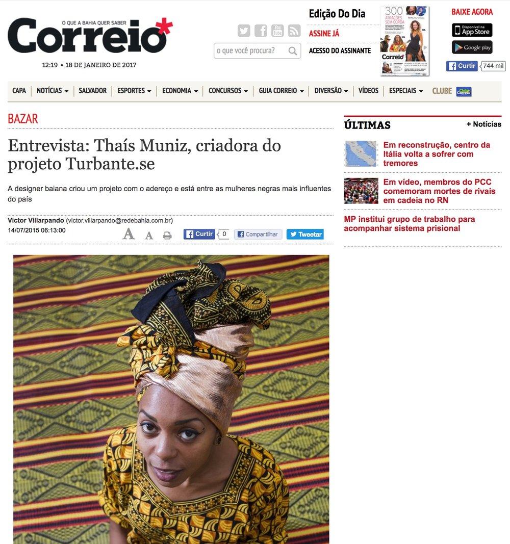 CORREIO 24HORAS  - THAÍS MUNIZ'S INTERVIEW