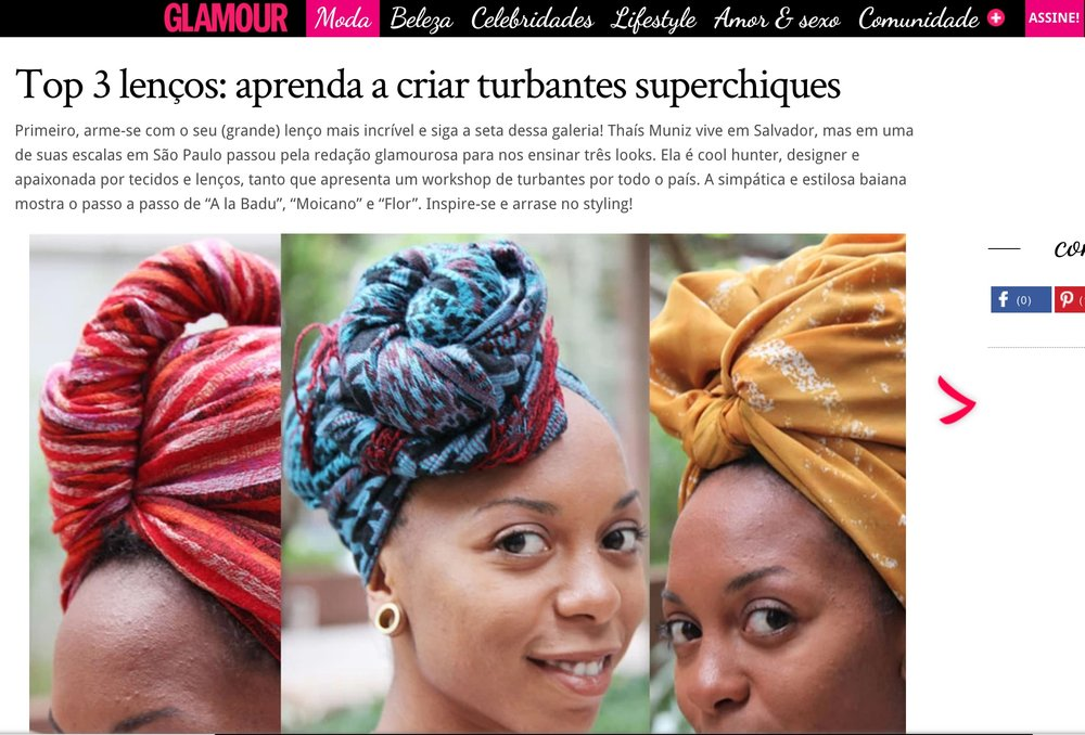 GLAMOUR MAGAZINE  - HOW TO MAKE A SUPER CHIC TURBAN