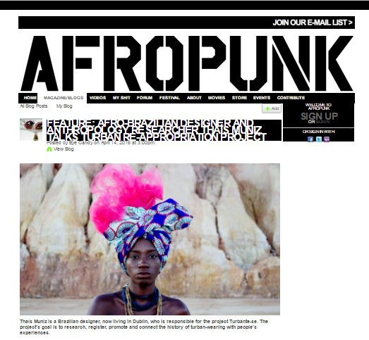 AFROPUNK   - AFRO-BRAZILIAN DESIGNER AND ANTHORPOLOGY RESEARCHER THAIS MUNIZ