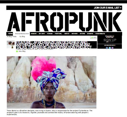 AFROPUNK   - AFRO-BRAZILIAN DESIGNER AND ANTHORPOLOGY RESEARCHER THAIS MUNIZ