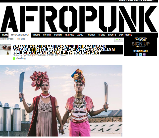 AFROPUNK   - YABÁS PHOTO EDITORIAL STRIKES BACK AGAINST INTOLERANCE OF AFRO-BRAZILIAN RELIGION CANDOMBLÉ THROUGH ART