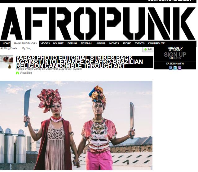 AFROPUNK   - YABÁS PHOTO EDITORIAL STRIKES BACK AGAINST INTOLERANCE OF AFRO-BRAZILIAN RELIGION CANDOMBLÉ THROUGH ART