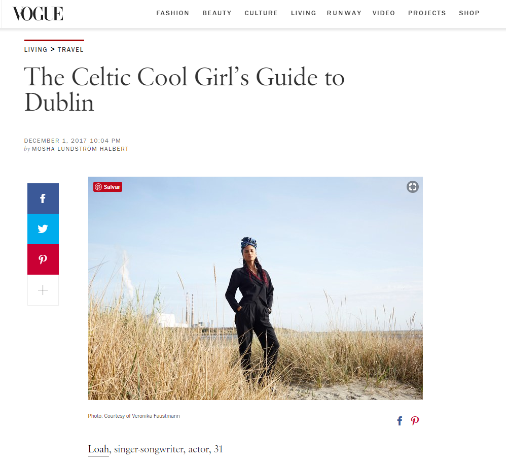 VOGUE.COM  - THE CELTIC COOL GIRL´S GUIDE TO DUBLIN WITH  LOAH