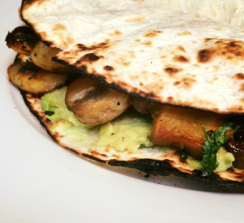 Mushroom & Avocado wrap