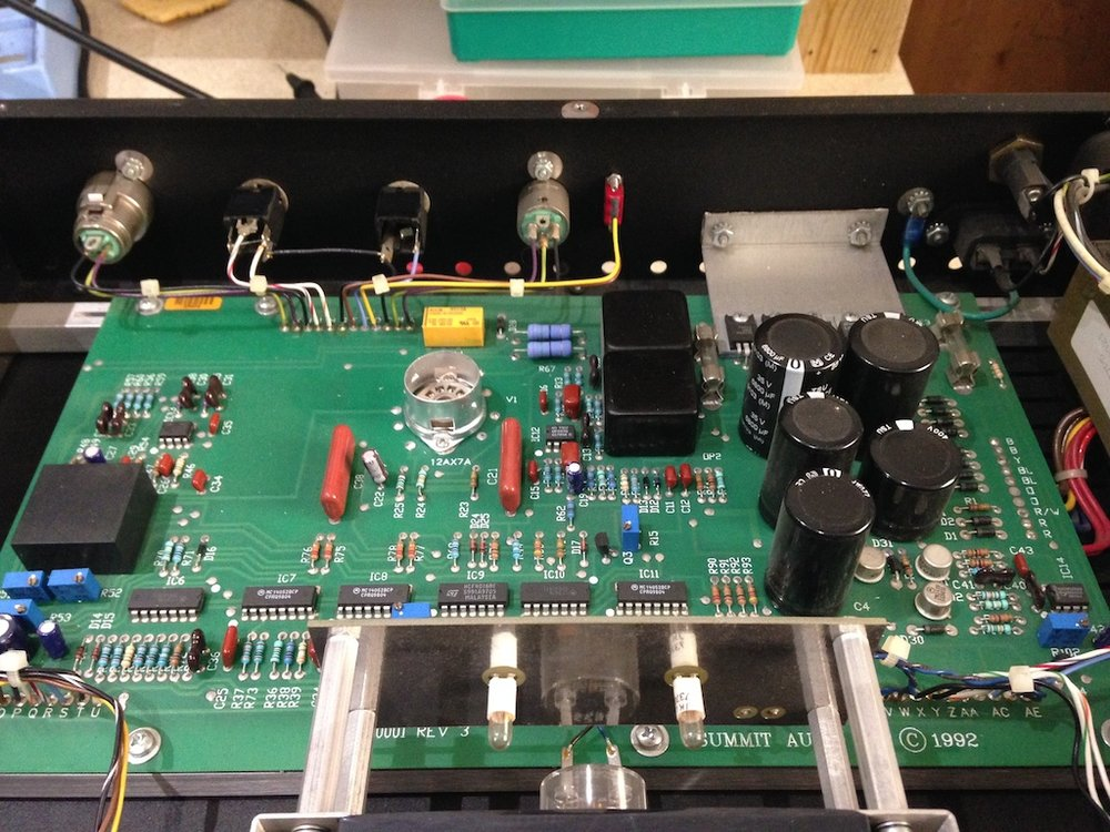 Summit Audio TLA100 - repair, retube, calibration