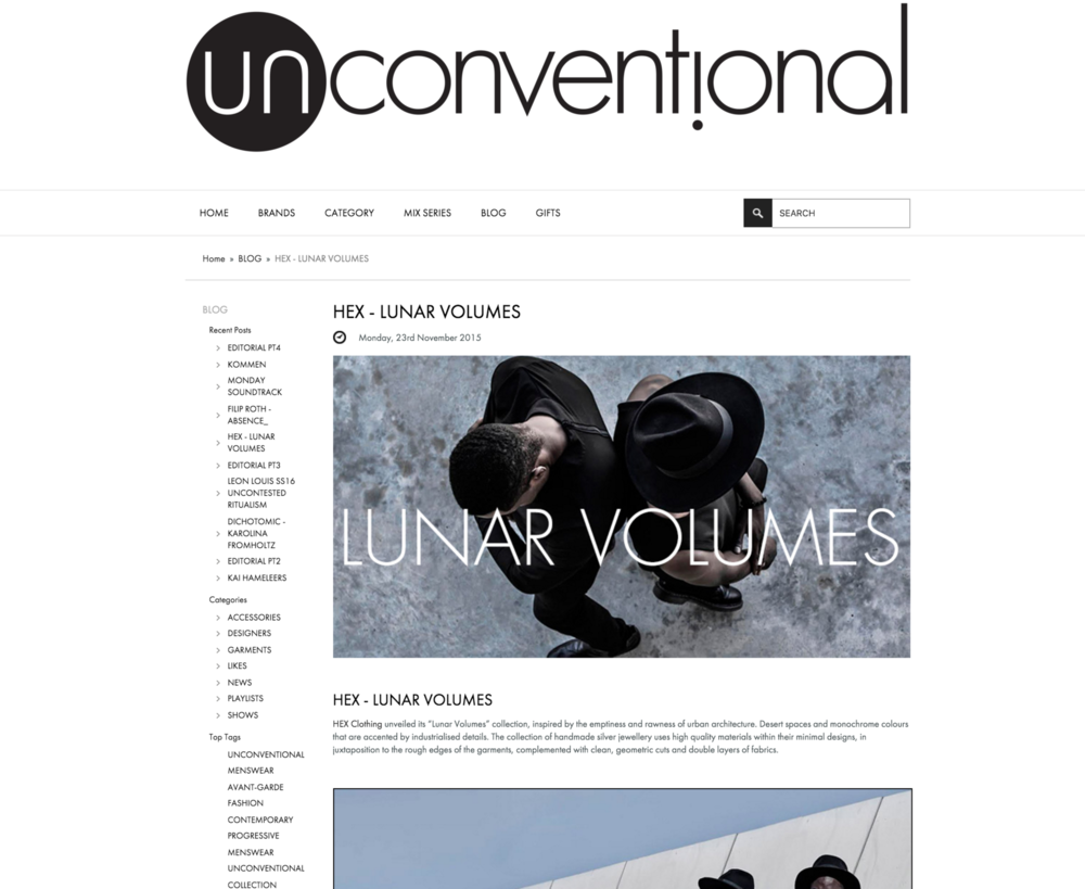THE UNCONVENTIONAL . NOVEMBER 2015