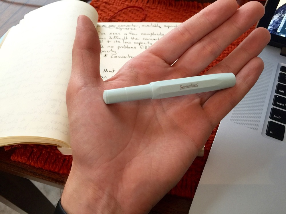 My giant man hands could easily crush the Kaweco Skyline Sport.