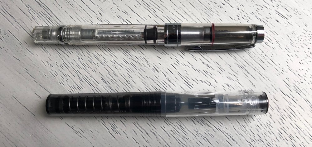 TWSBI 580AL (top) and TWSBI GO (bottom)